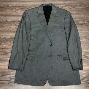 Versace Grey & Black Check Bamboo Sport Coat 46R